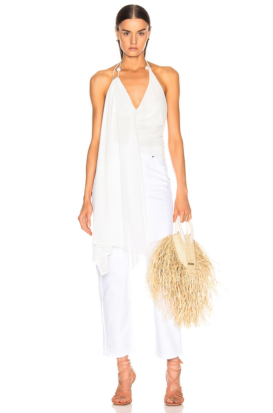 Image 1 of JACQUEMUS Spezzia Top in White