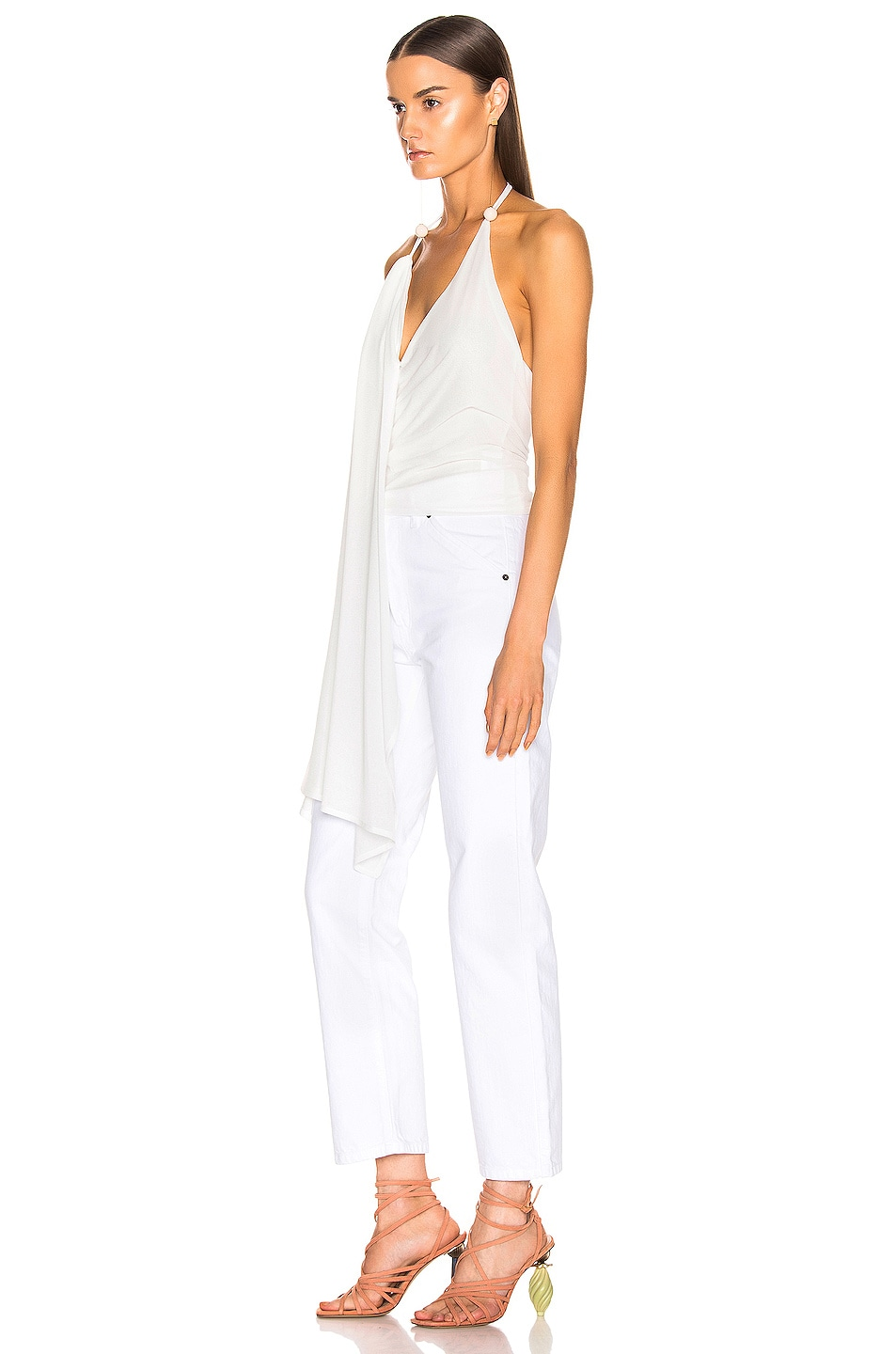 Image 3 of JACQUEMUS Spezzia Top in White