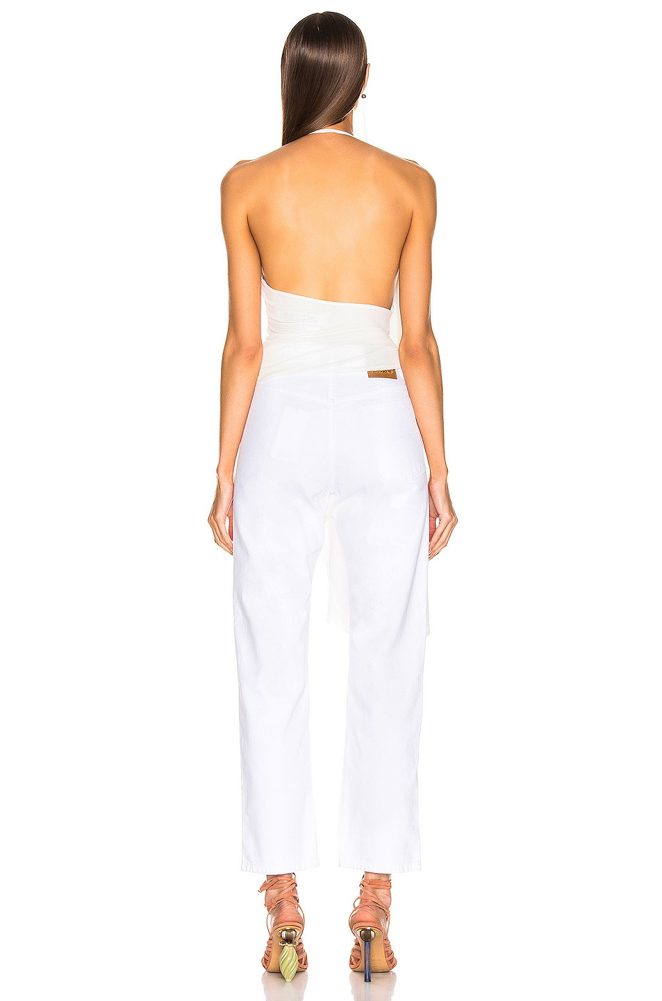 Image 4 of JACQUEMUS Spezzia Top in White