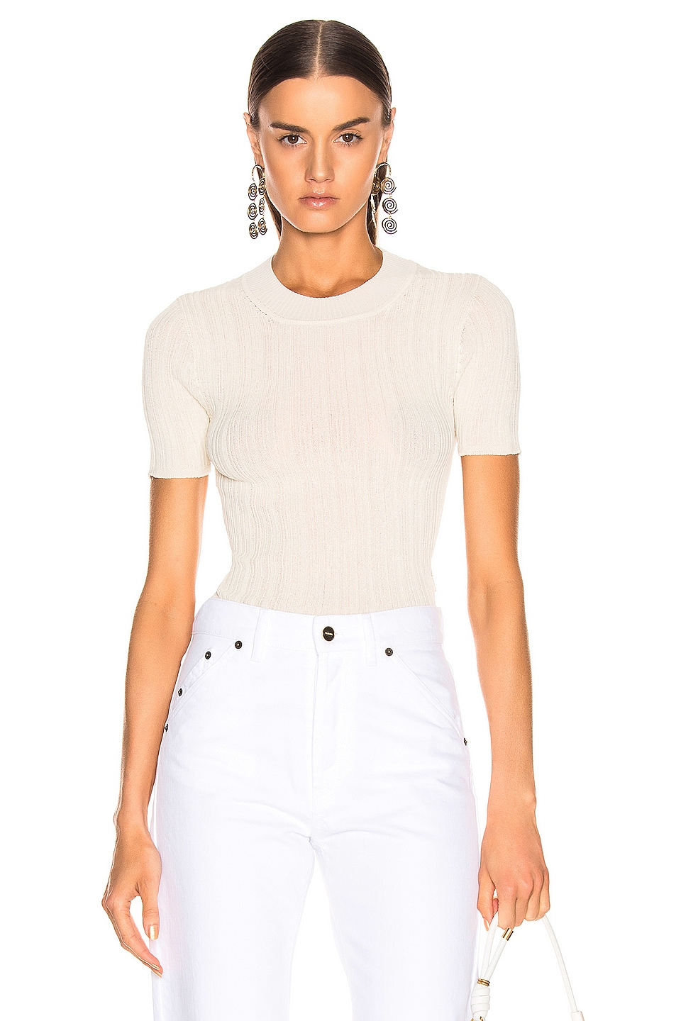 Image 1 of JACQUEMUS Afa Top in Ecru