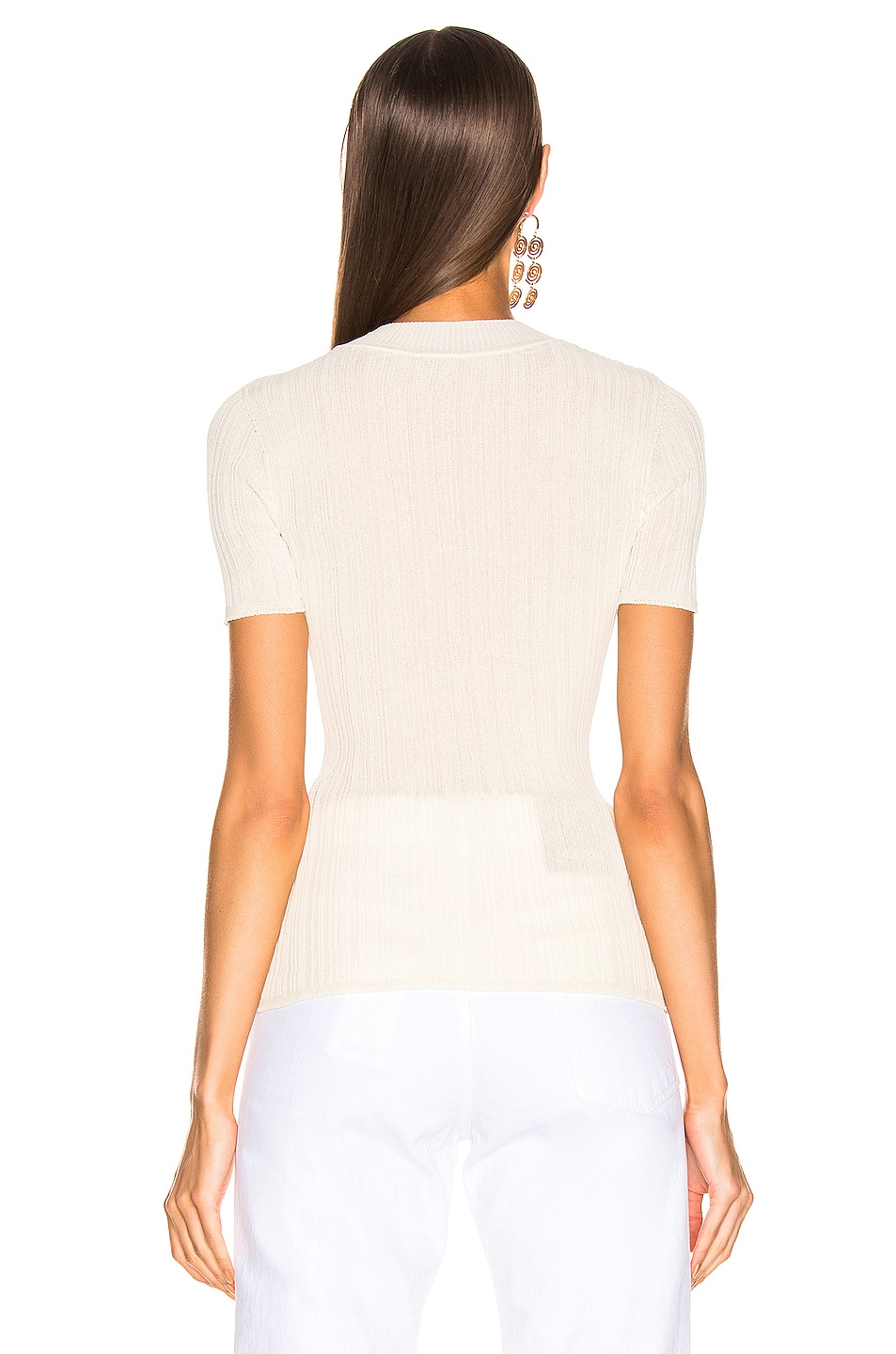 Image 3 of JACQUEMUS Afa Top in Ecru