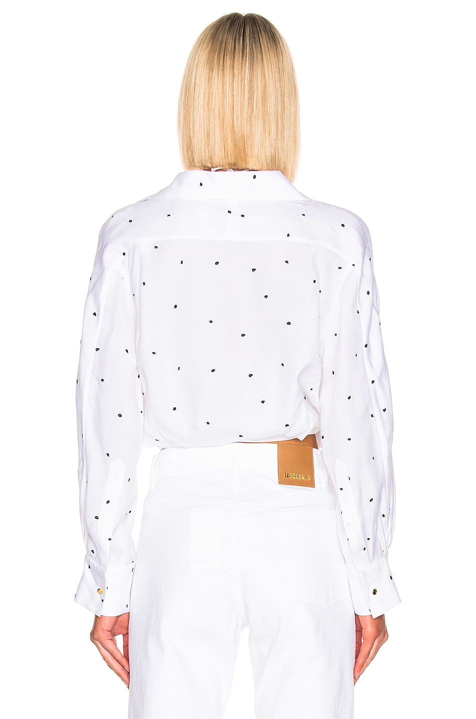 Image 3 of JACQUEMUS Siena Shirt in Navy Dots