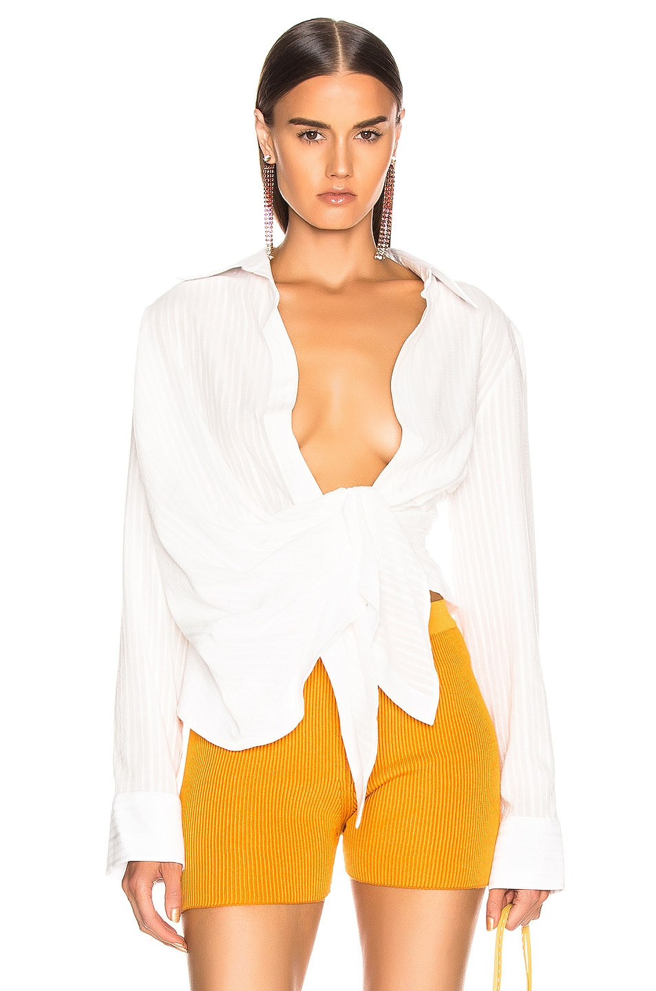 Image 1 of JACQUEMUS Bahia Shirt in Off White