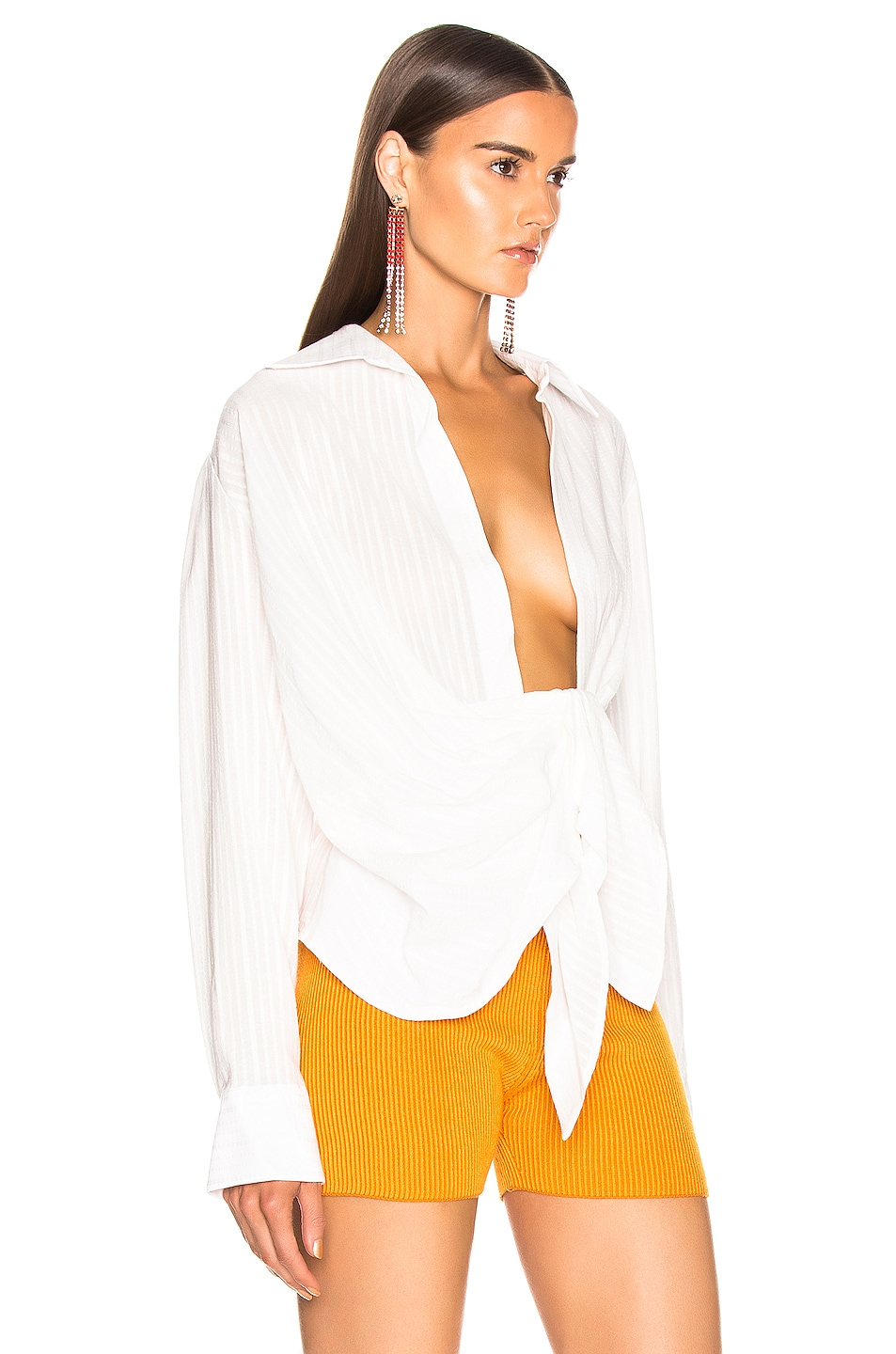 Image 2 of JACQUEMUS Bahia Shirt in Off White