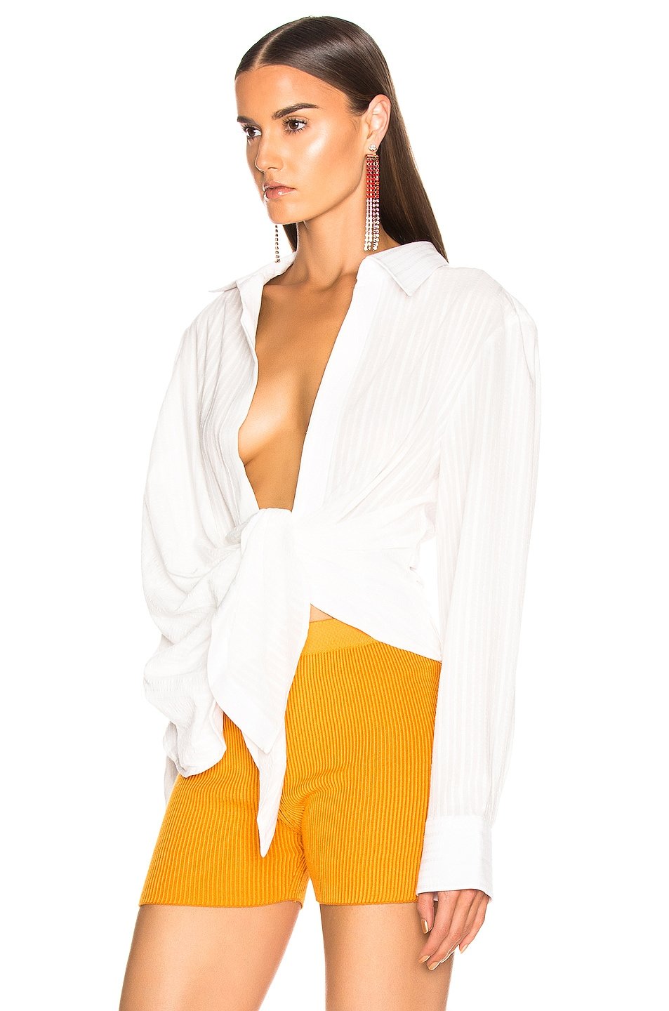 Image 3 of JACQUEMUS Bahia Shirt in Off White