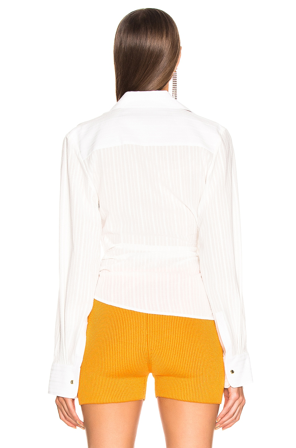 Image 4 of JACQUEMUS Bahia Shirt in Off White