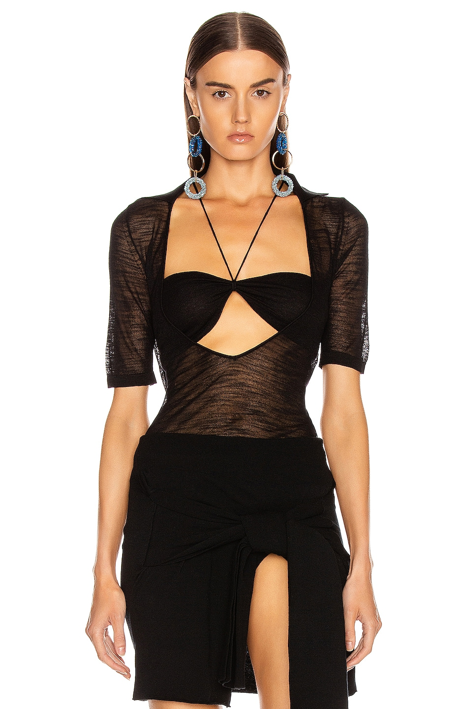 Image 1 of JACQUEMUS Piana Top in Black