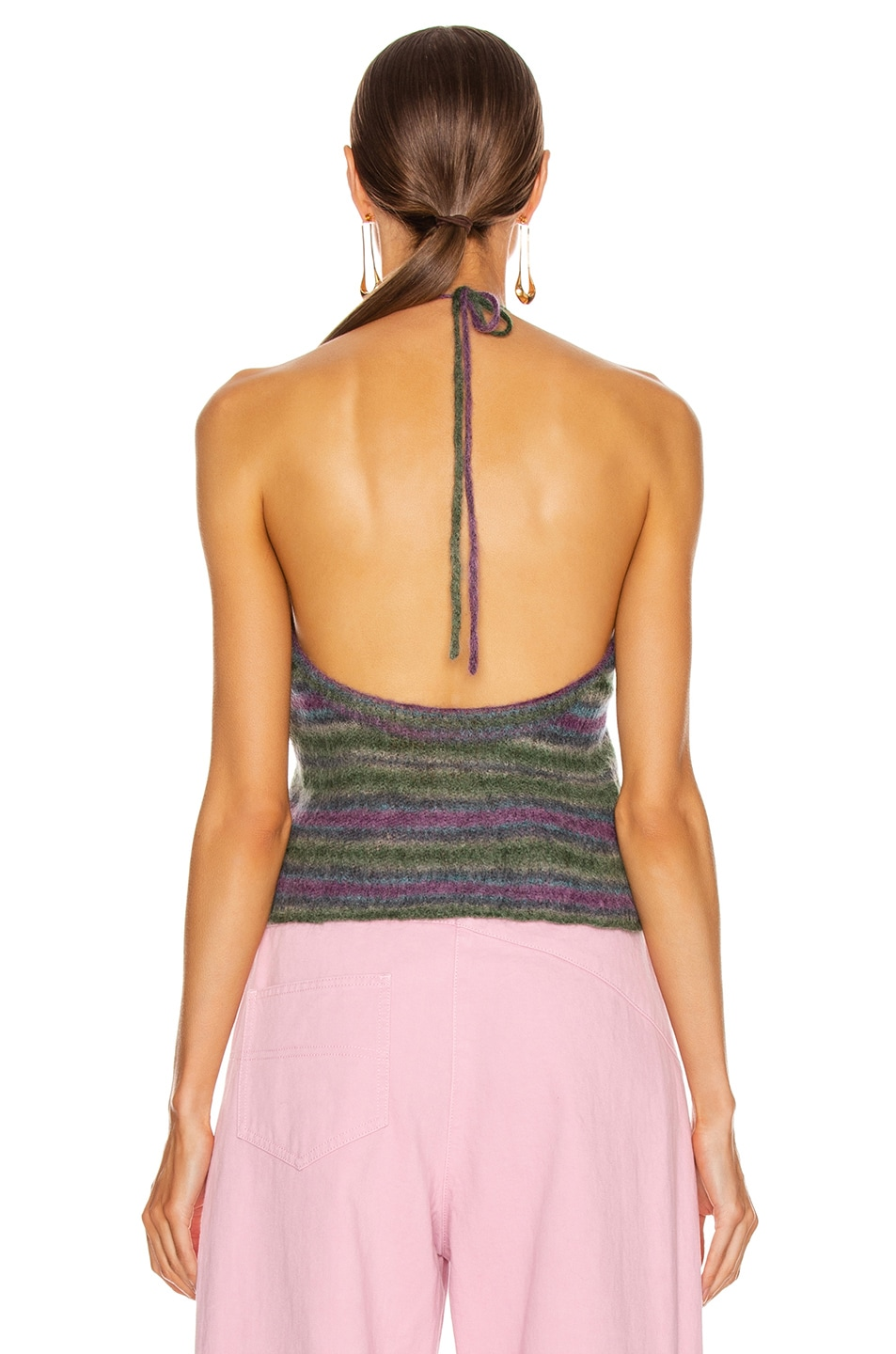 Image 3 of JACQUEMUS La Maille Tropea in Purple Striped