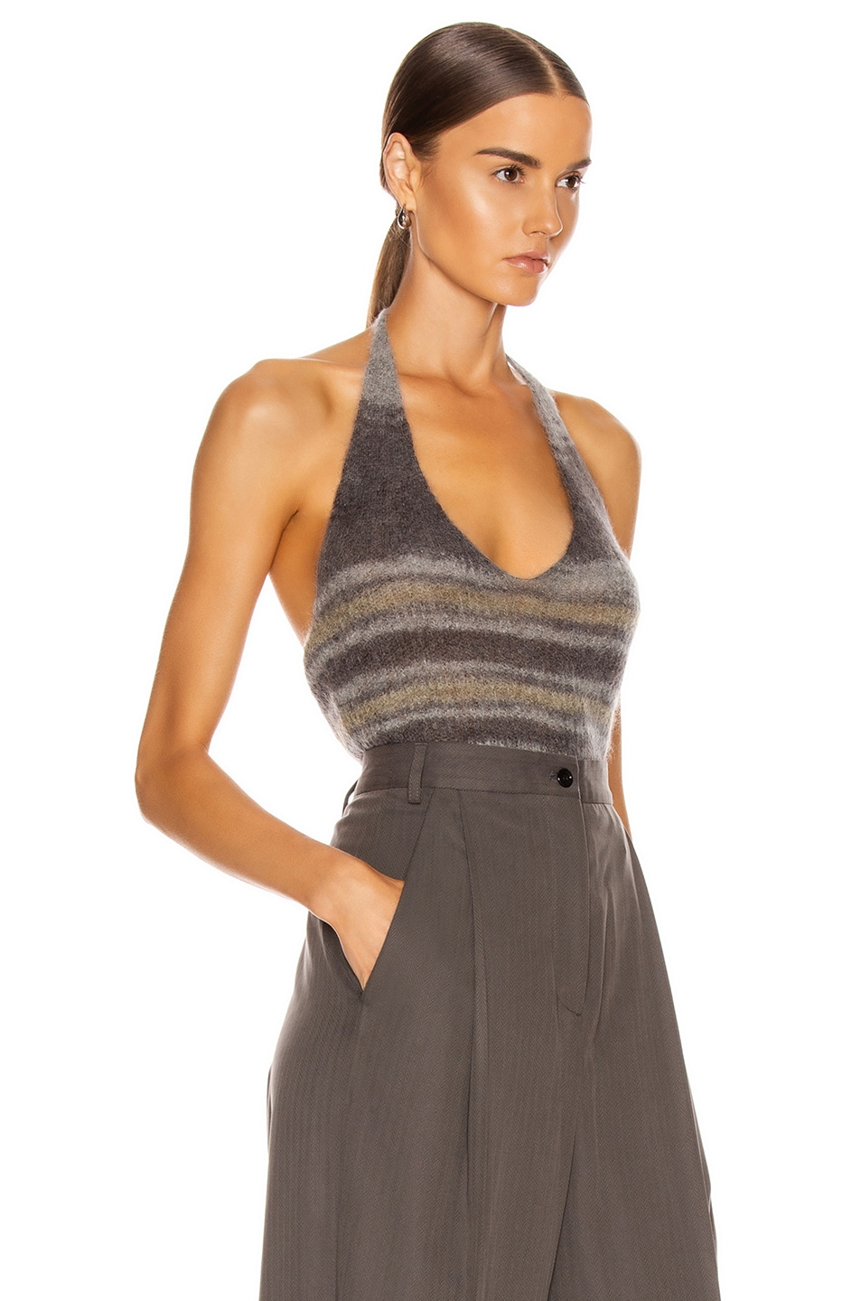 Image 2 of JACQUEMUS La Maille Tropea in Grey Striped