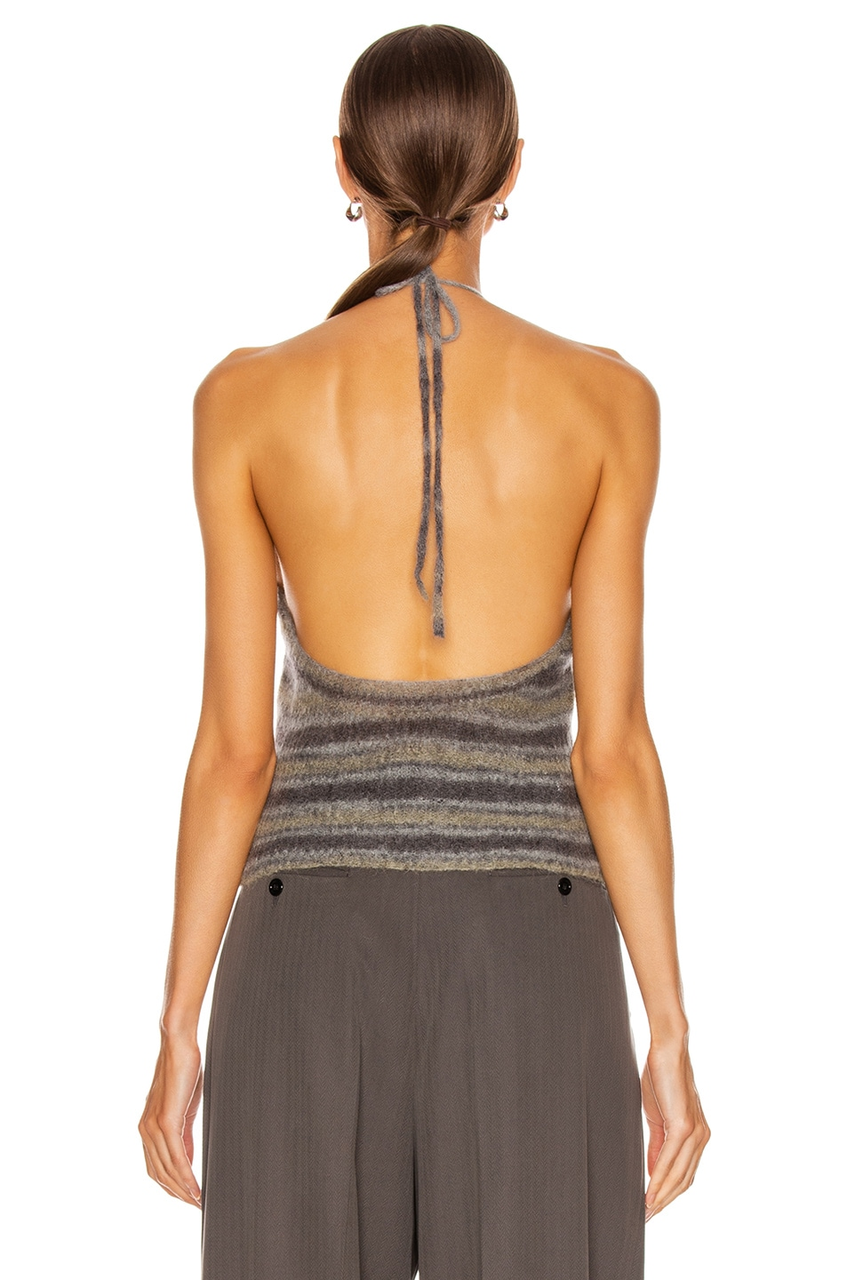 Image 3 of JACQUEMUS La Maille Tropea in Grey Striped