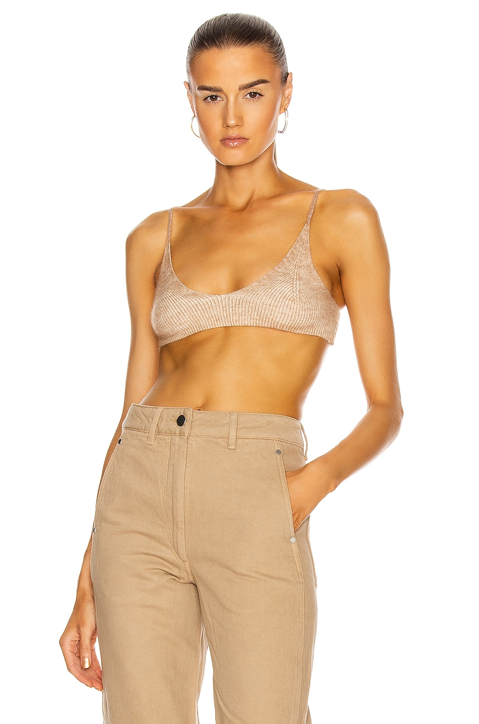 Image 1 of JACQUEMUS Le Bandeau Valensole in Camel Stripes