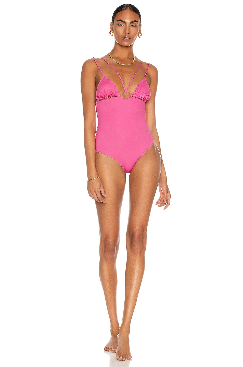 Image 1 of JACQUEMUS Le Maillot Pila Swimsuit in Pink