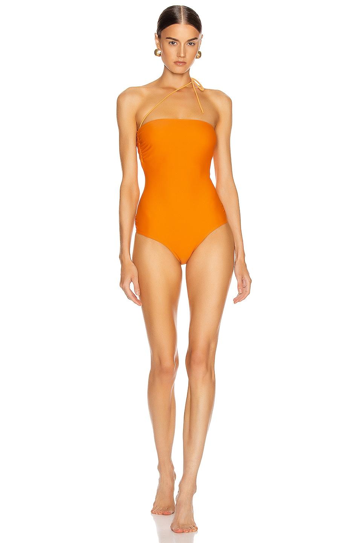 Image 1 of JACQUEMUS Alassio Swimsuit in Orange