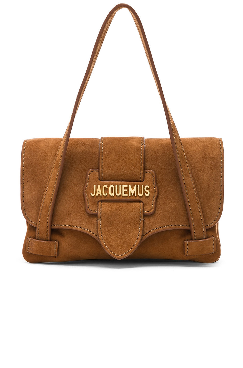 Image 1 of JACQUEMUS Le Minho Bag in Camel Nubuck
