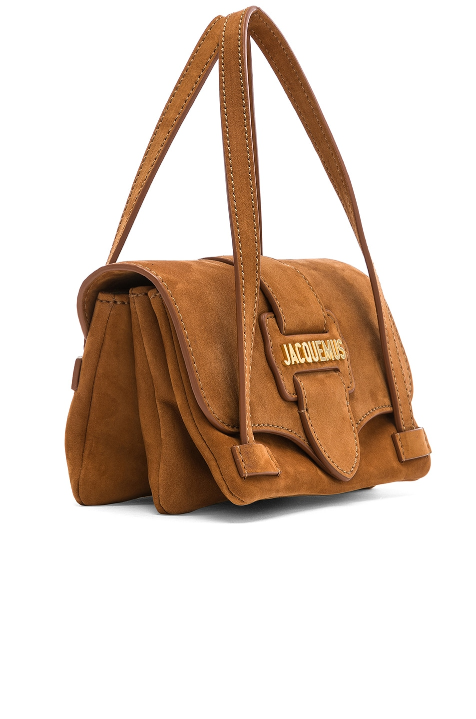 Image 4 of JACQUEMUS Le Minho Bag in Camel Nubuck