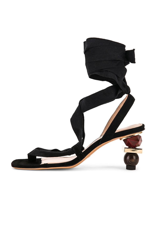 Image 7 of JACQUEMUS Capri Sandals in Black Suede