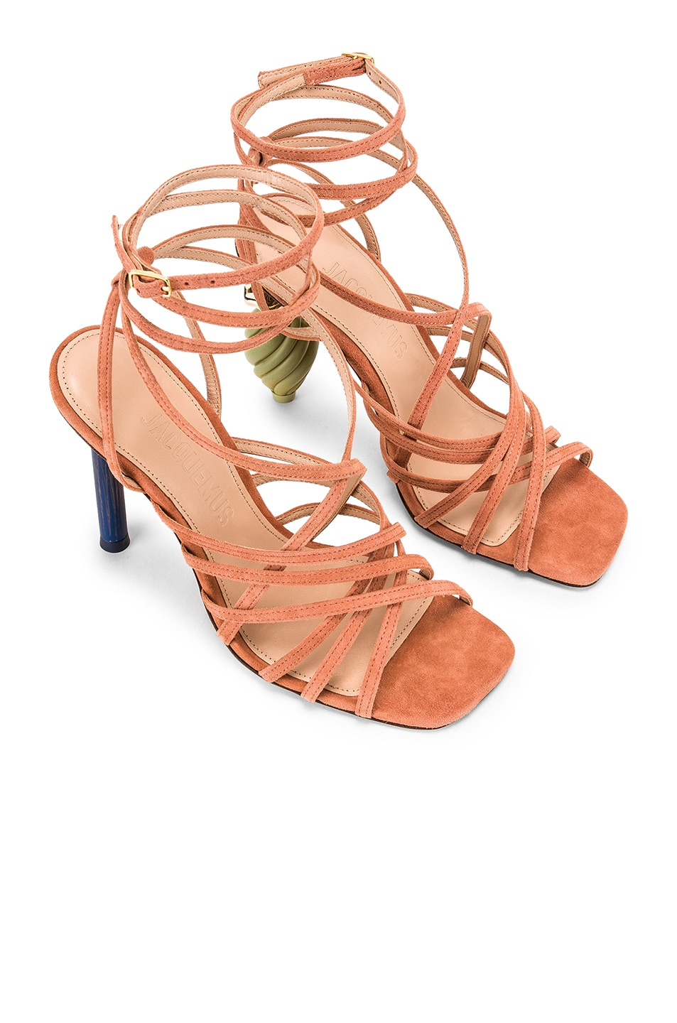 Image 1 of JACQUEMUS Pisa Sandals in Dark Nude Suede