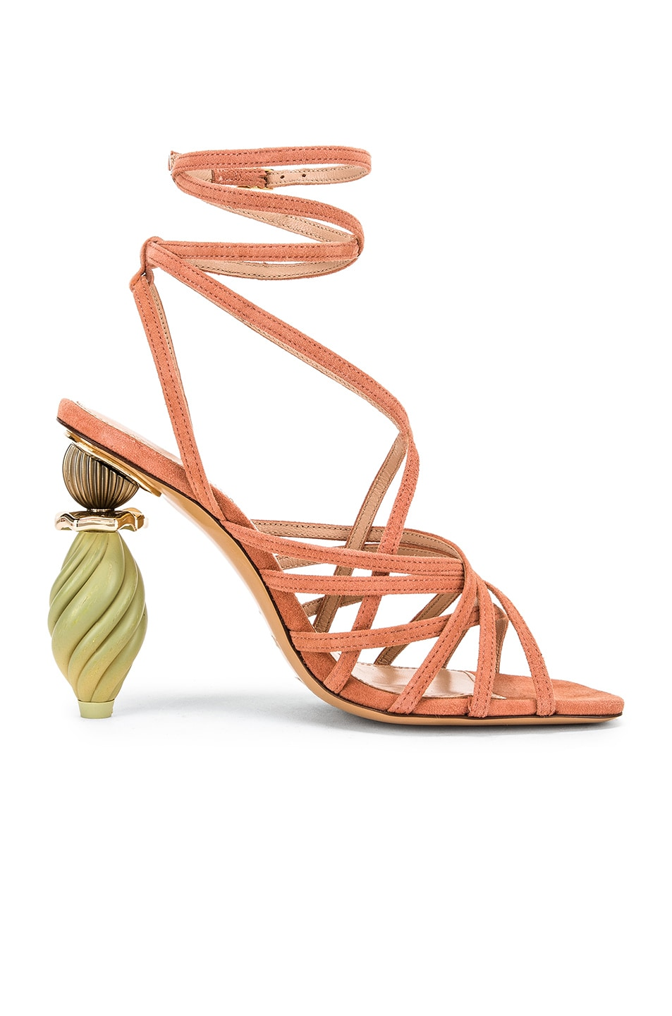Image 6 of JACQUEMUS Pisa Sandals in Dark Nude Suede