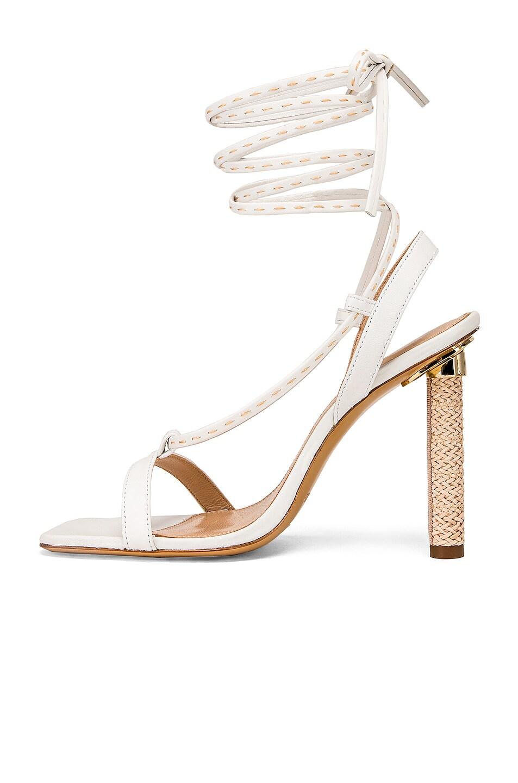Image 5 of JACQUEMUS Bergamo Sandals in White Leather