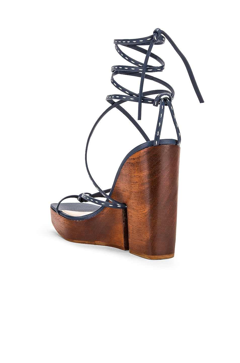 Image 3 of JACQUEMUS Pilotis Sandal in Navy