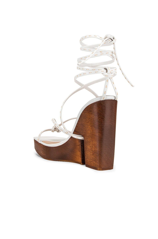 Image 3 of JACQUEMUS Pilotis Sandal in White