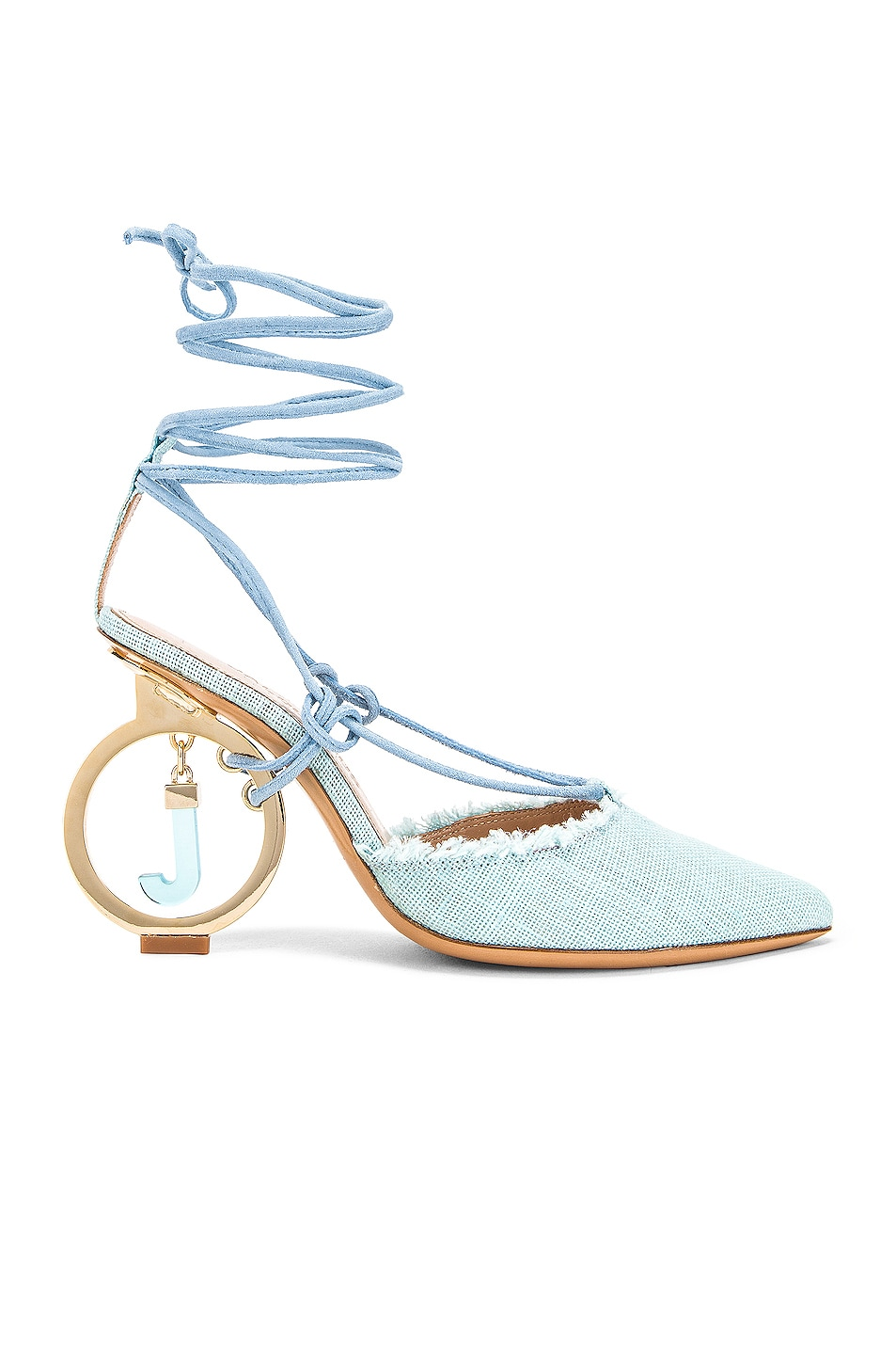 Image 1 of JACQUEMUS Chaussures Riviera Sandal in Light Blue