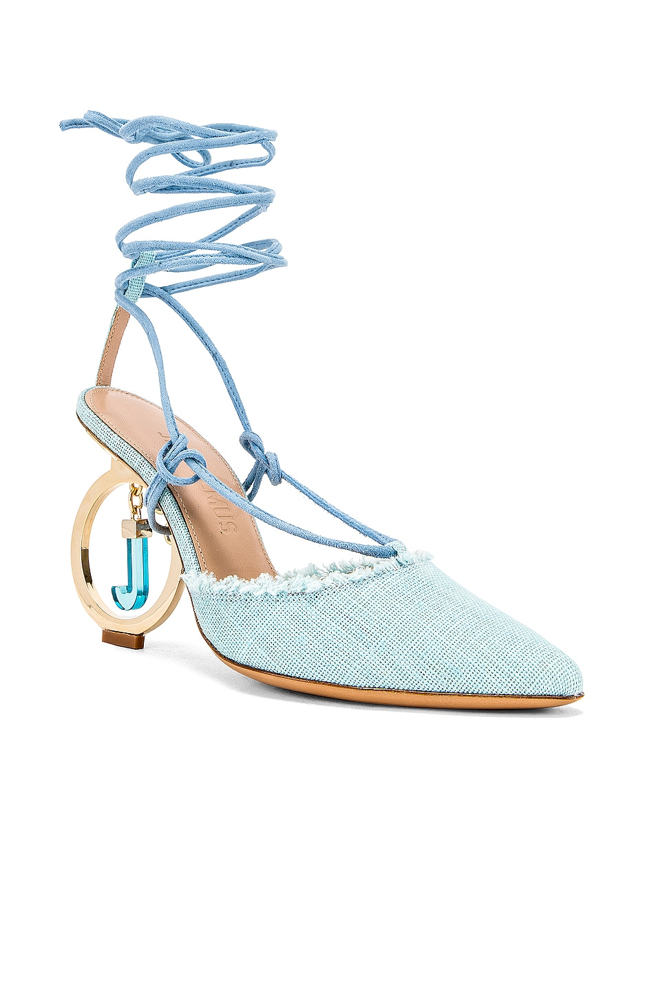 Image 2 of JACQUEMUS Chaussures Riviera Sandal in Light Blue