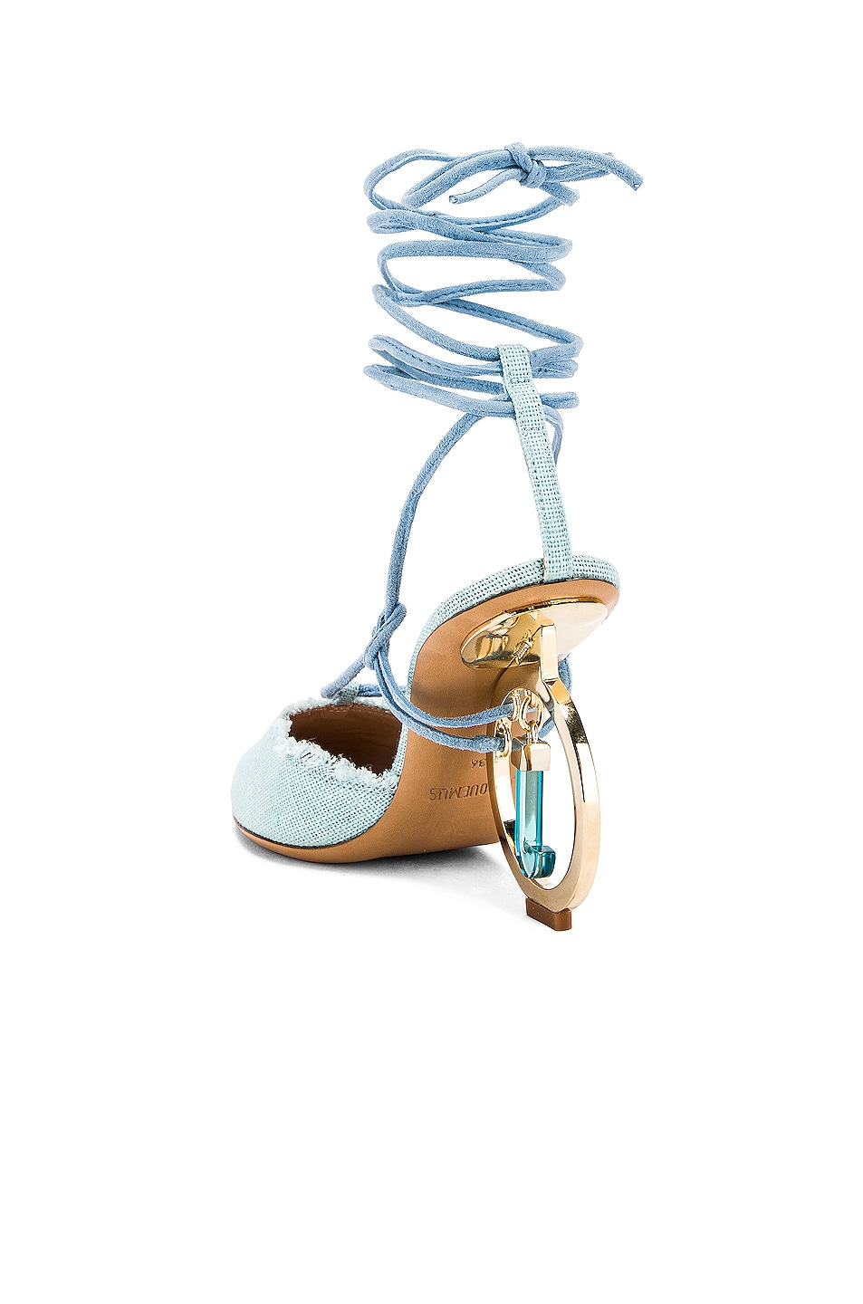 Image 3 of JACQUEMUS Chaussures Riviera Sandal in Light Blue