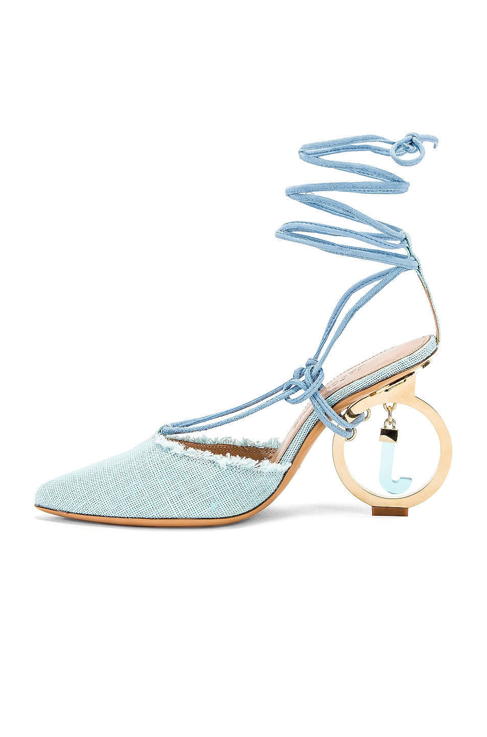 Image 5 of JACQUEMUS Chaussures Riviera Sandal in Light Blue