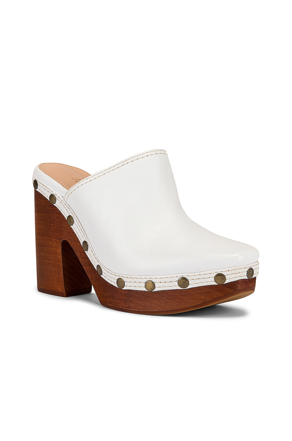 Image 2 of JACQUEMUS Clog Mule in White