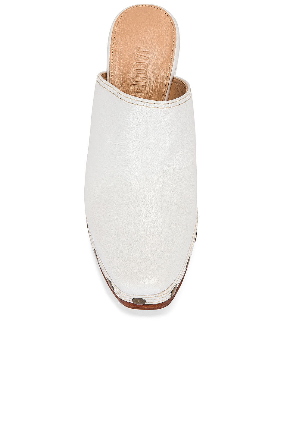 Image 4 of JACQUEMUS Clog Mule in White