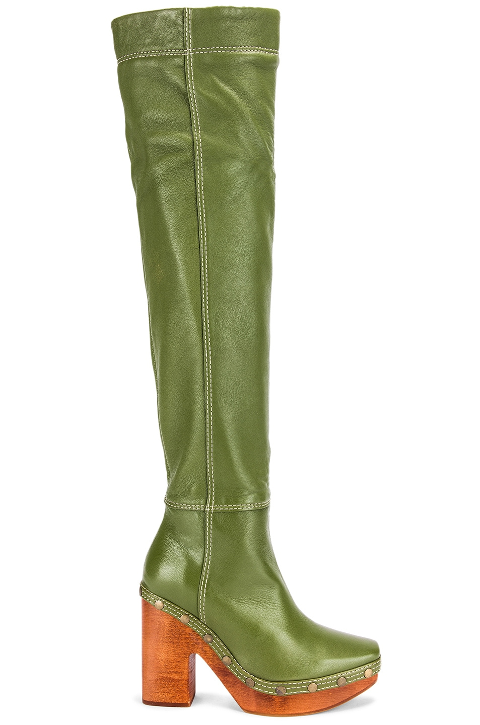Image 1 of JACQUEMUS Boot in Green