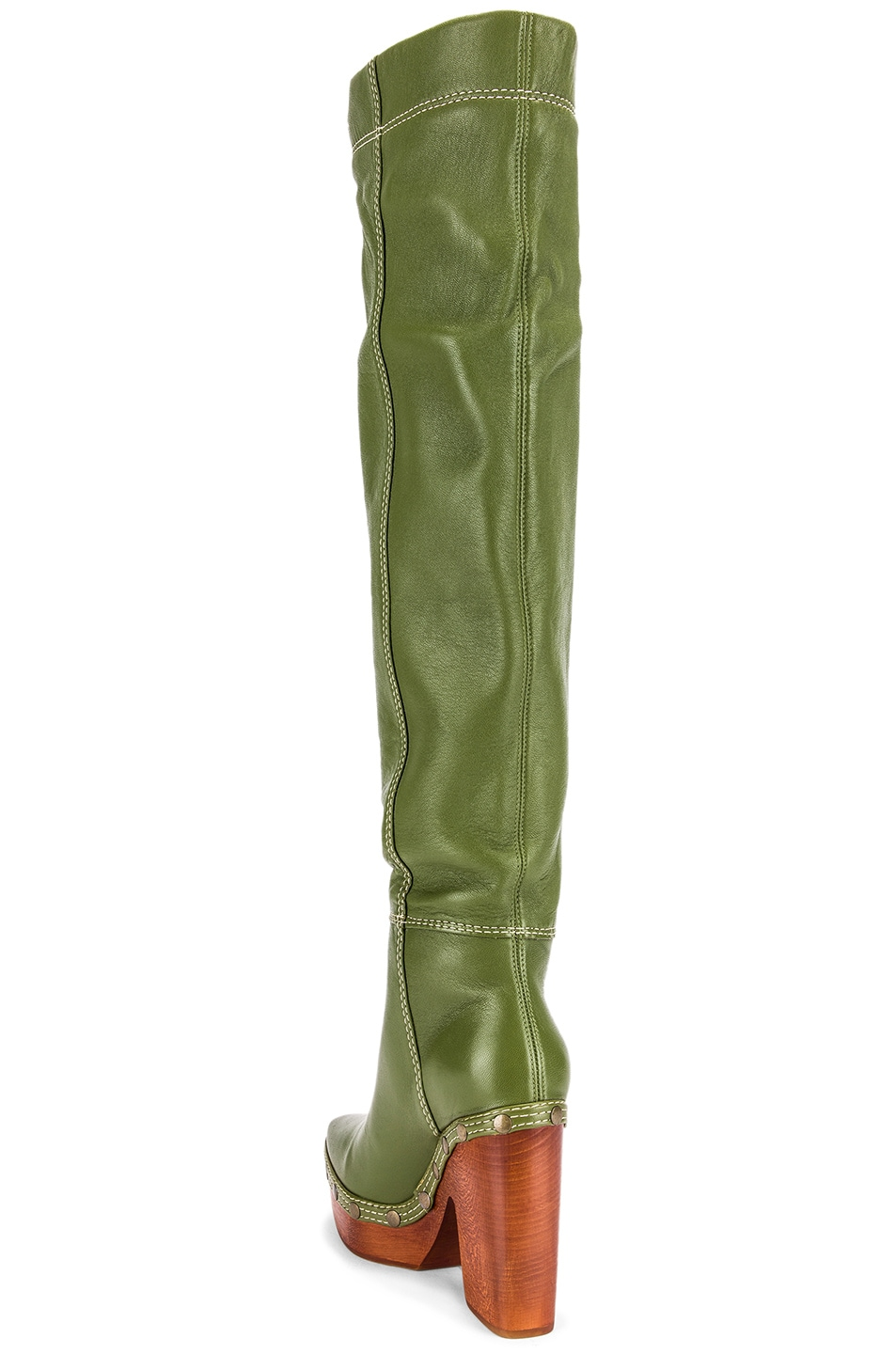 Image 3 of JACQUEMUS Boot in Green