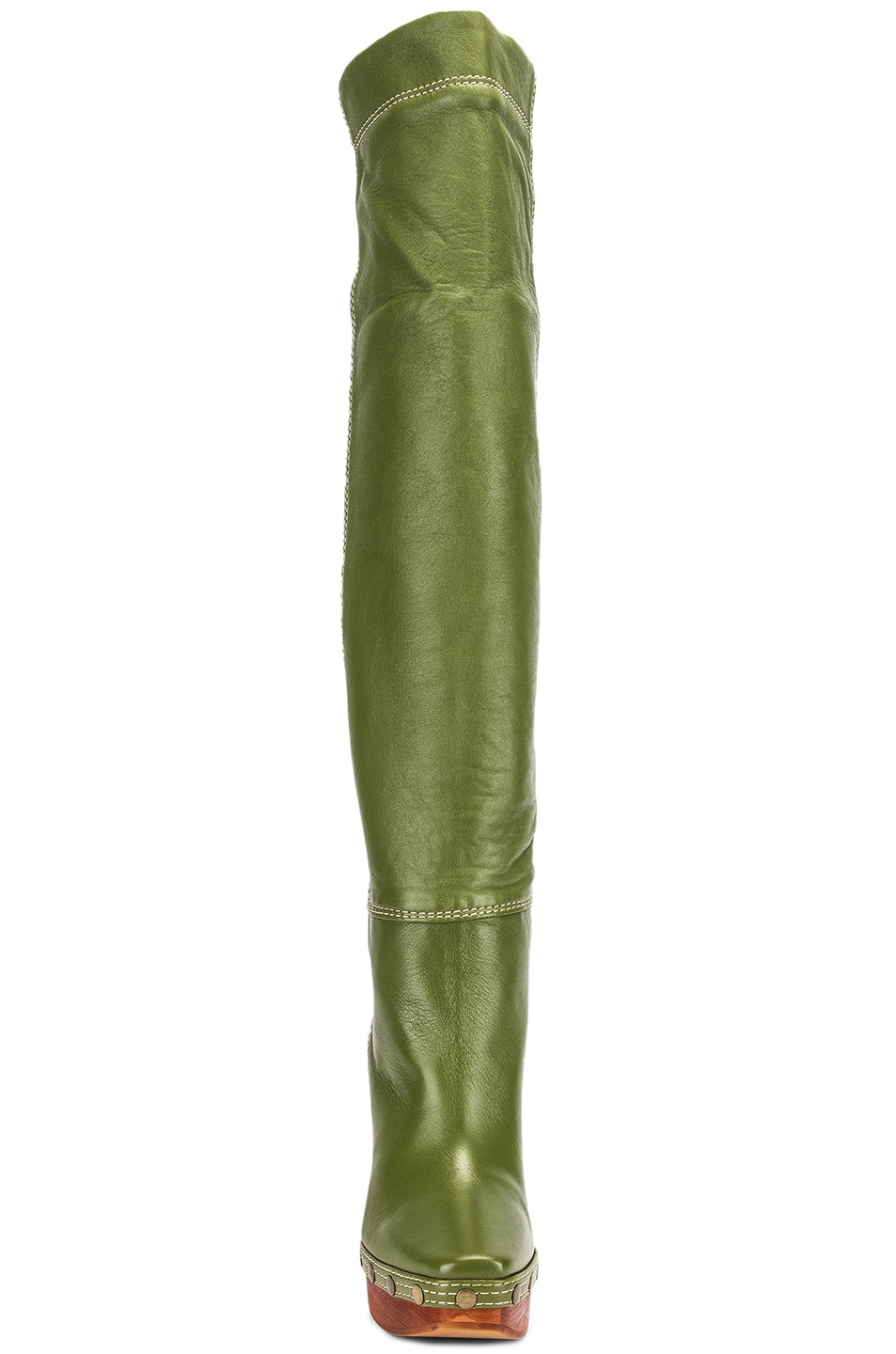 Image 4 of JACQUEMUS Boot in Green