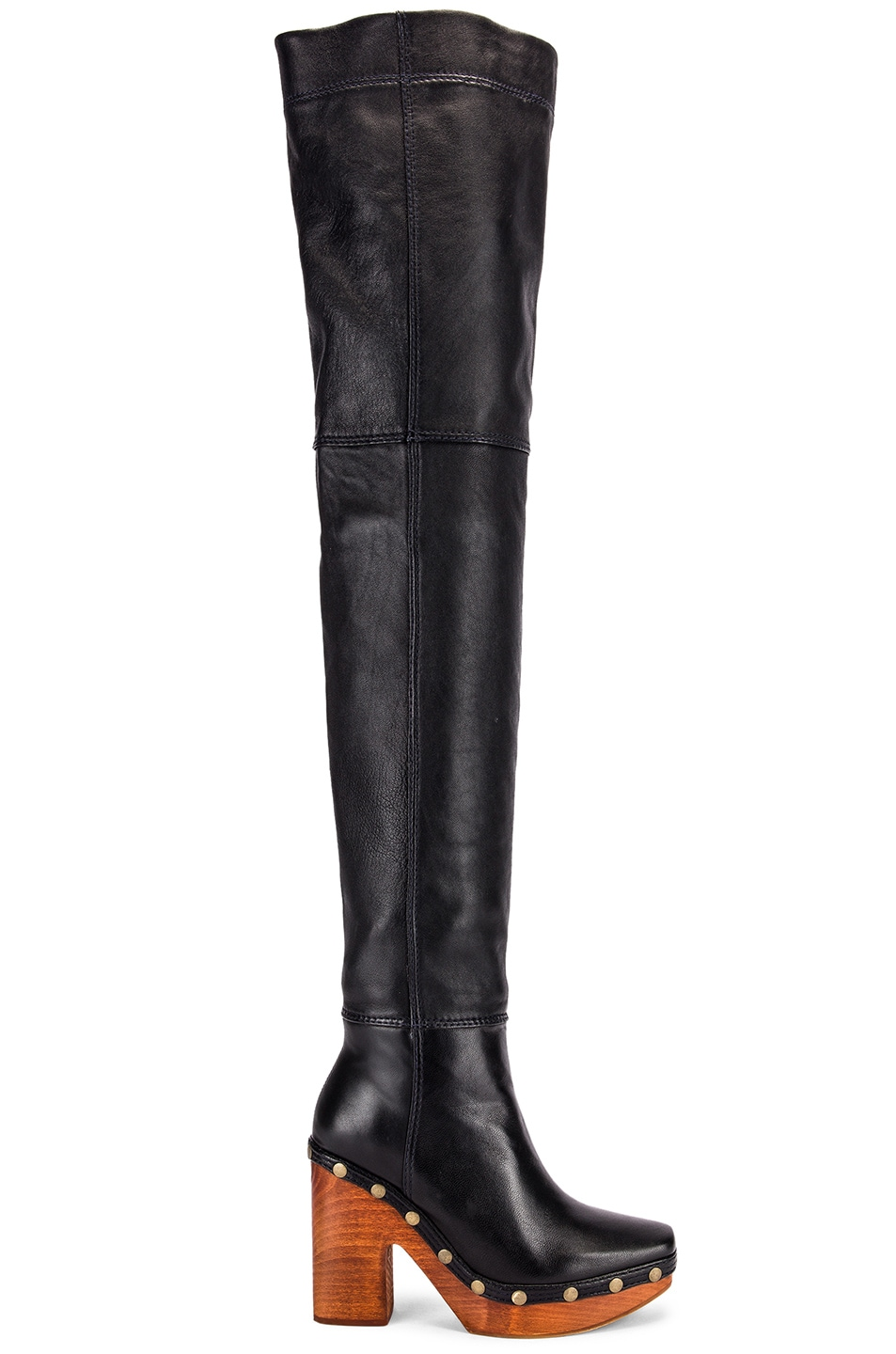 Image 1 of JACQUEMUS Knee High Boot in Black
