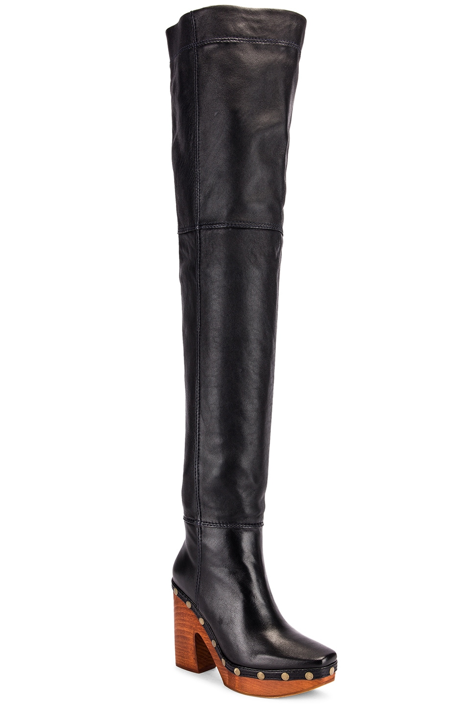 Image 2 of JACQUEMUS Knee High Boot in Black