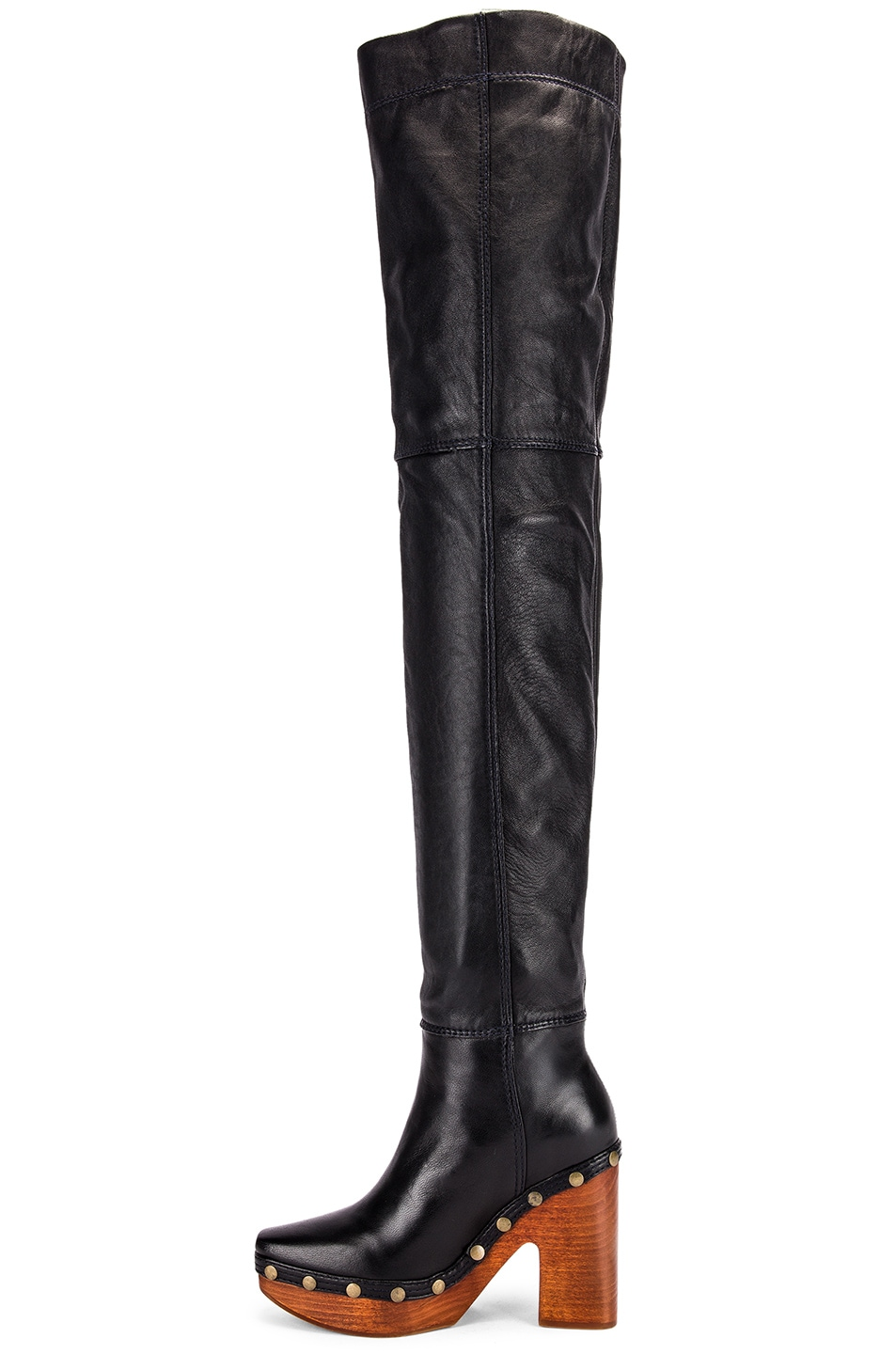 Image 5 of JACQUEMUS Knee High Boot in Black