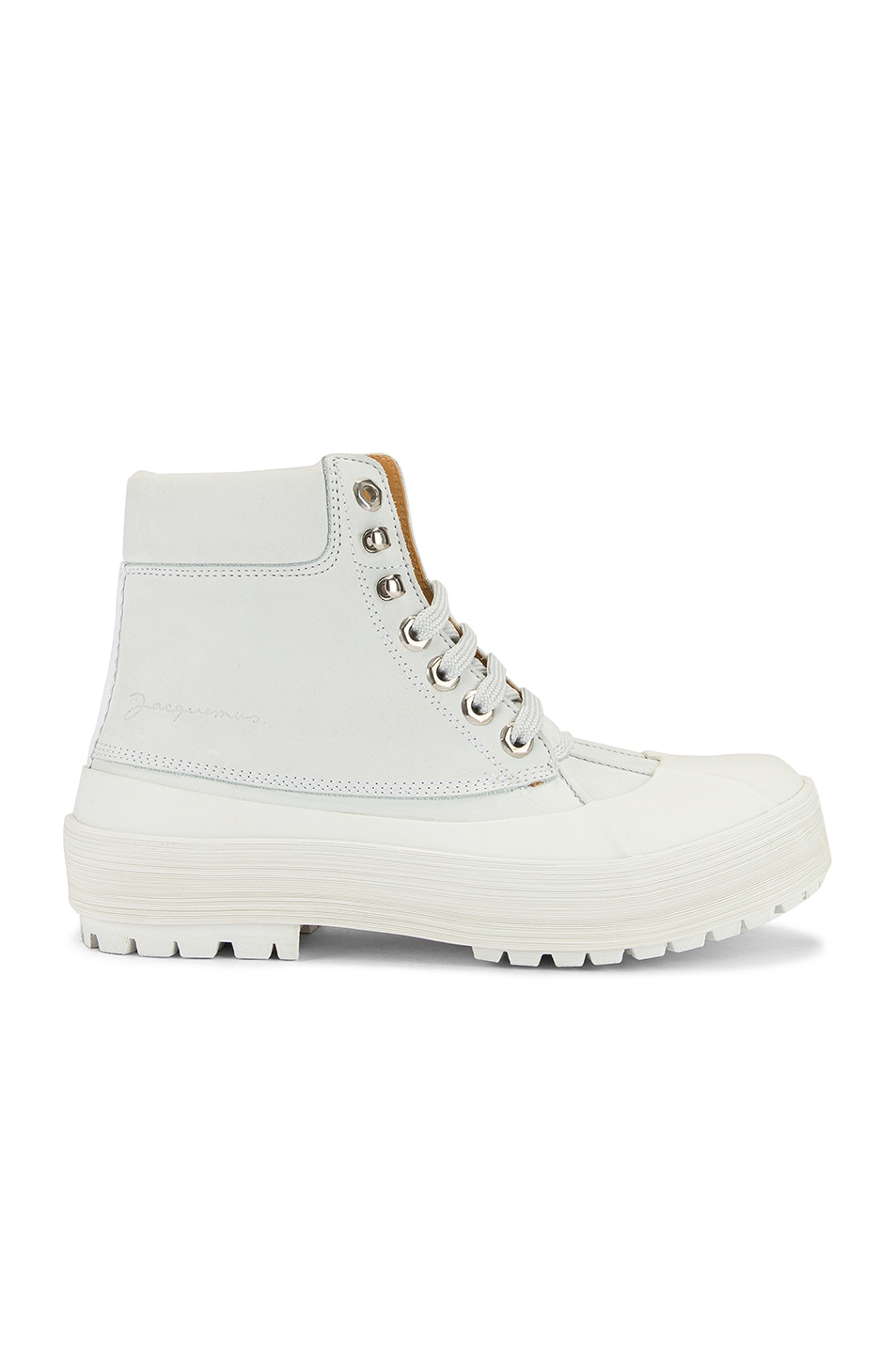 Image 1 of JACQUEMUS High Top Boot in White