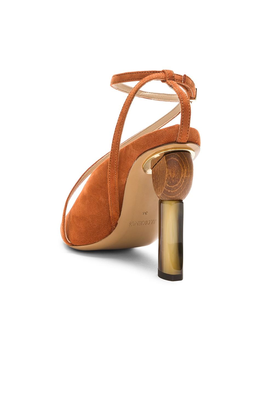Image 3 of JACQUEMUS Suede Faya Heels in Terracotta Suede