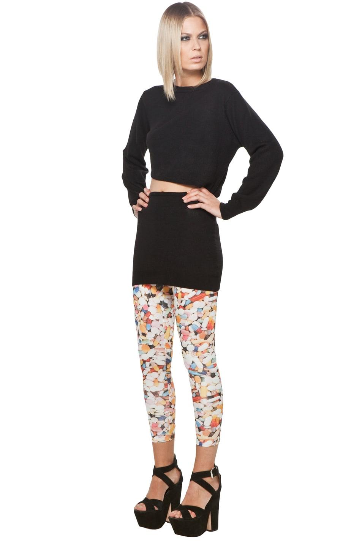 Image 2 of Jeremy Scott Split Knit Dress in Black