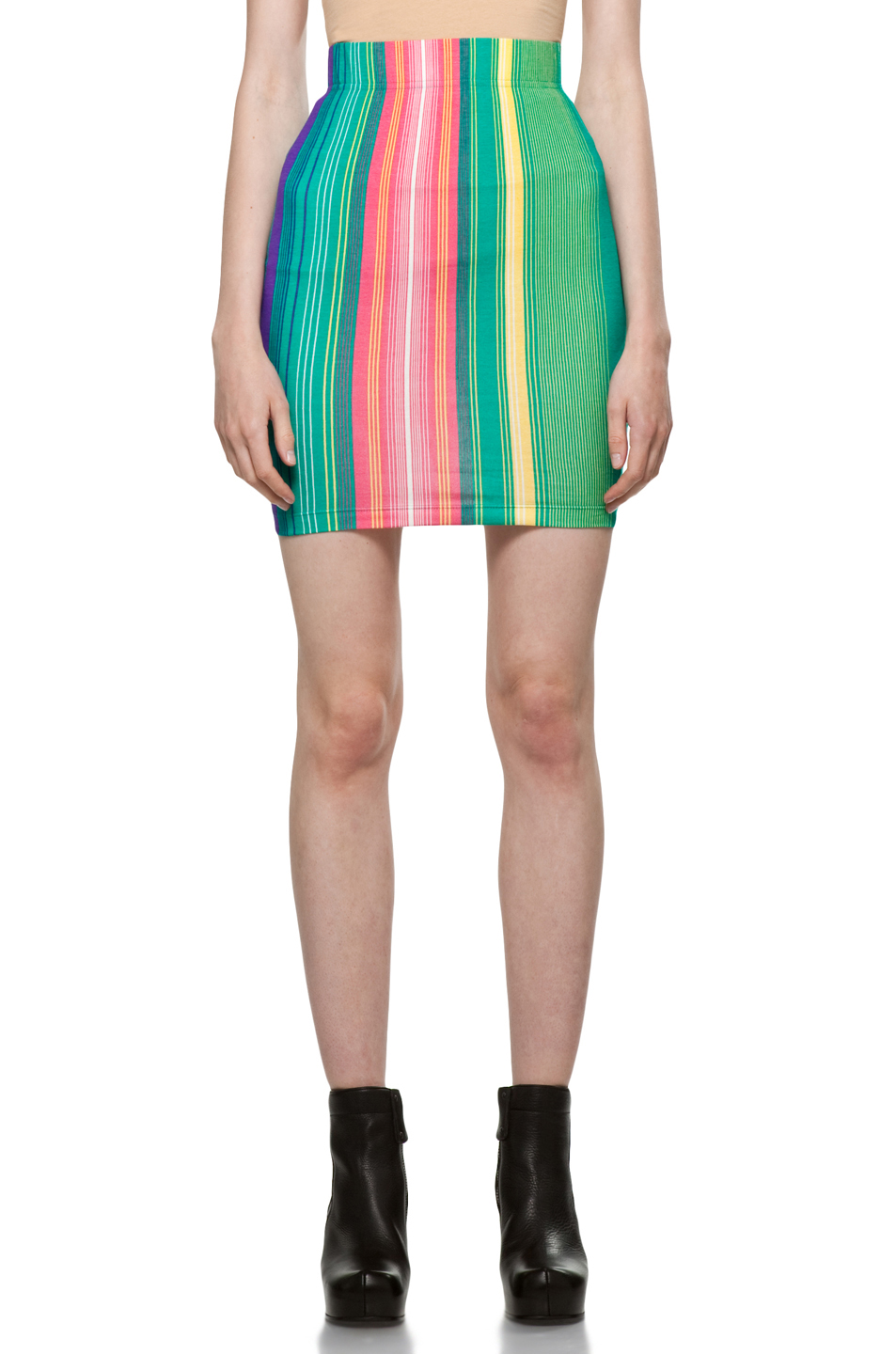 Image 1 of Jeremy Scott Skirt in Color Stripe