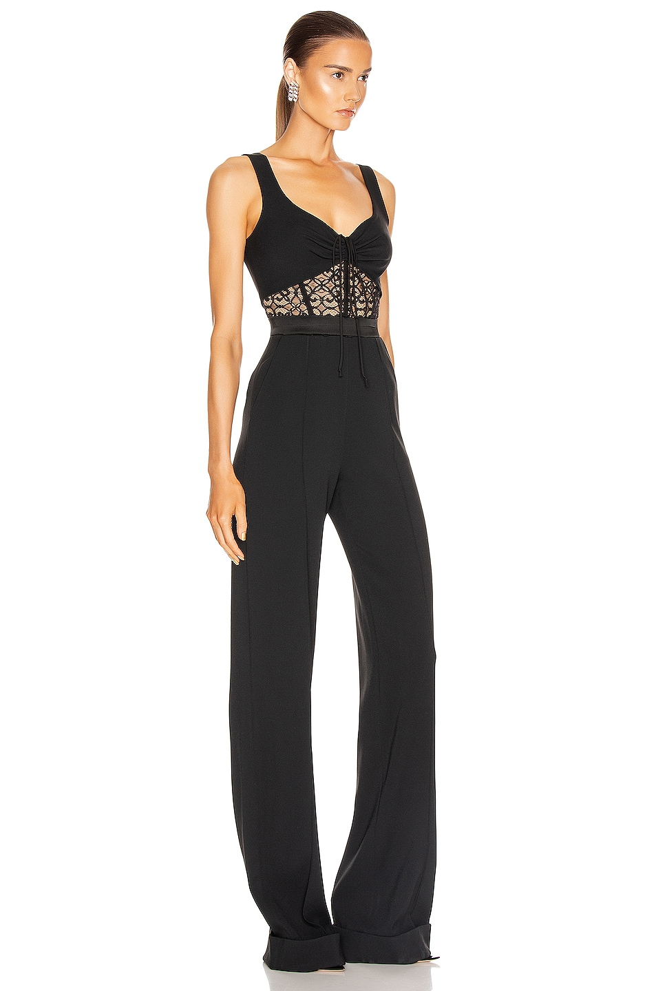 Image 2 of JONATHAN SIMKHAI Arden Lace Jumpsuit in Black