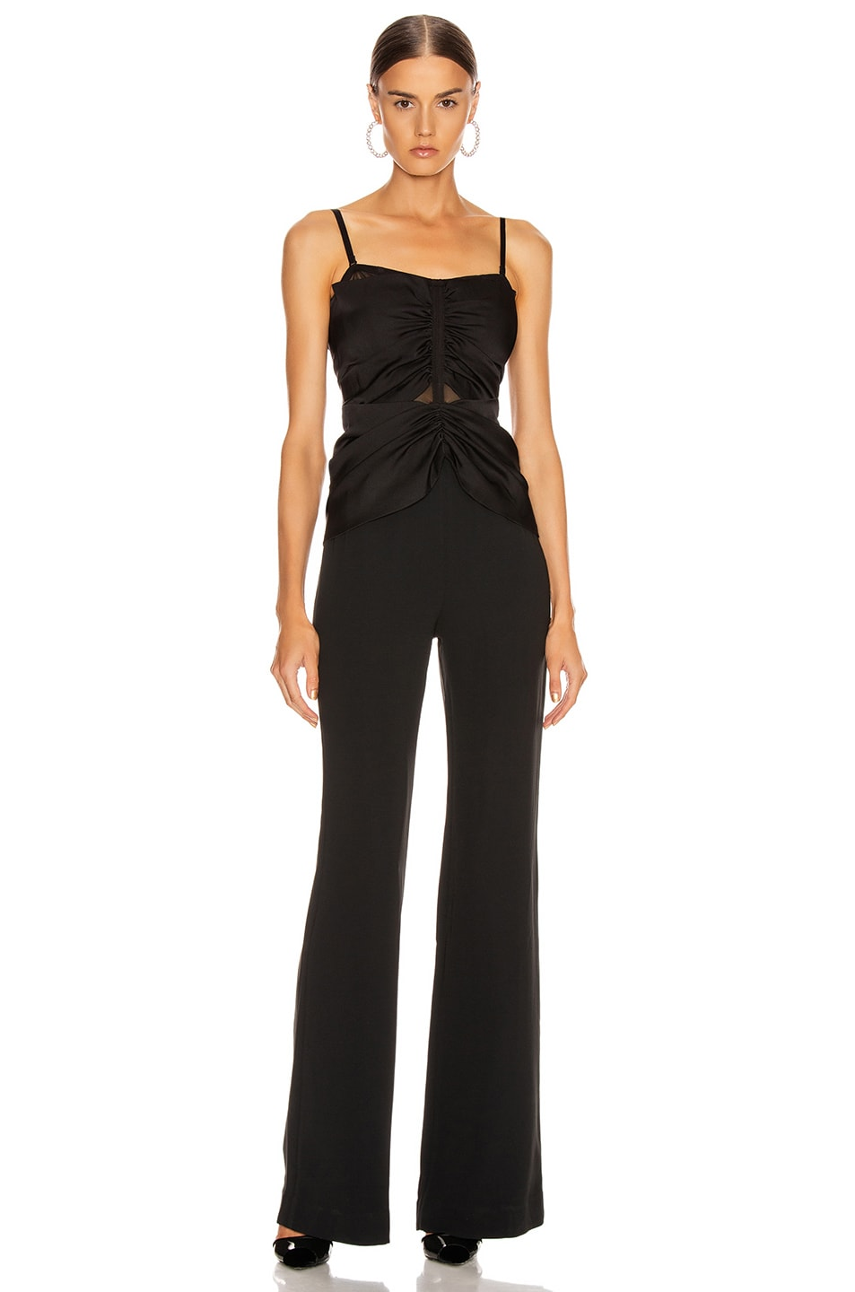 Image 2 of JONATHAN SIMKHAI Ruched Strapless Jumpsuit in Black