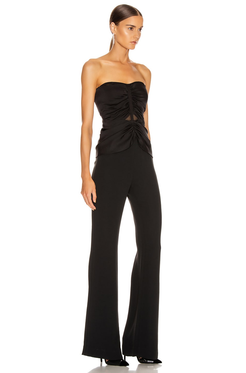 Image 3 of JONATHAN SIMKHAI Ruched Strapless Jumpsuit in Black