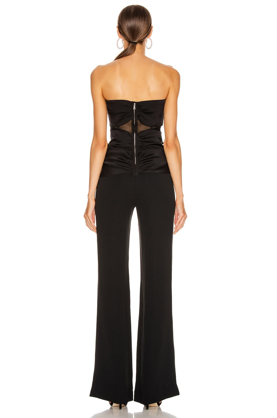 Image 4 of JONATHAN SIMKHAI Ruched Strapless Jumpsuit in Black