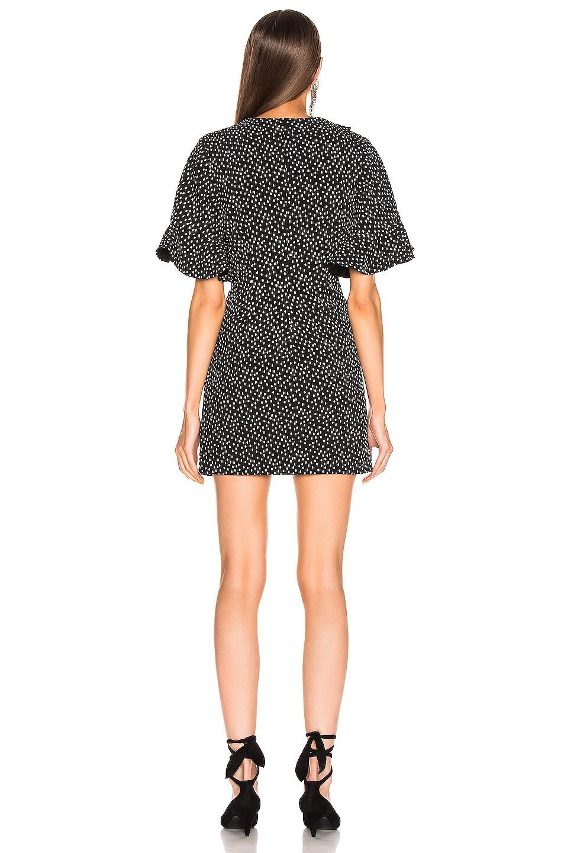 Image 3 of JONATHAN SIMKHAI Speckle Print Flutter Sleeve Dress in Black & White Print