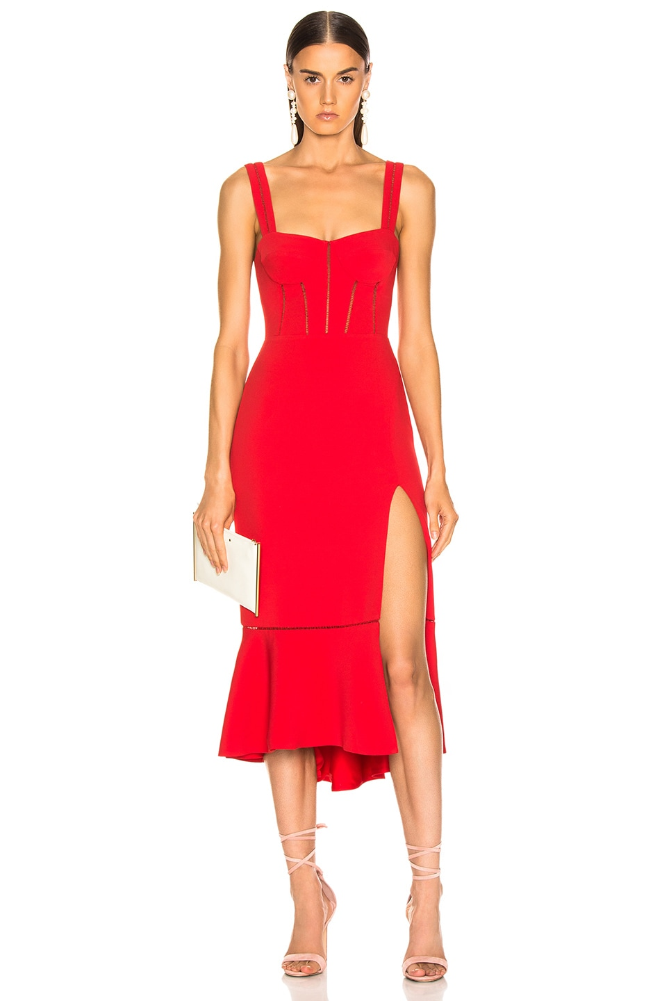 Image 1 of JONATHAN SIMKHAI for FWRD Bustier Dress in Fire Red