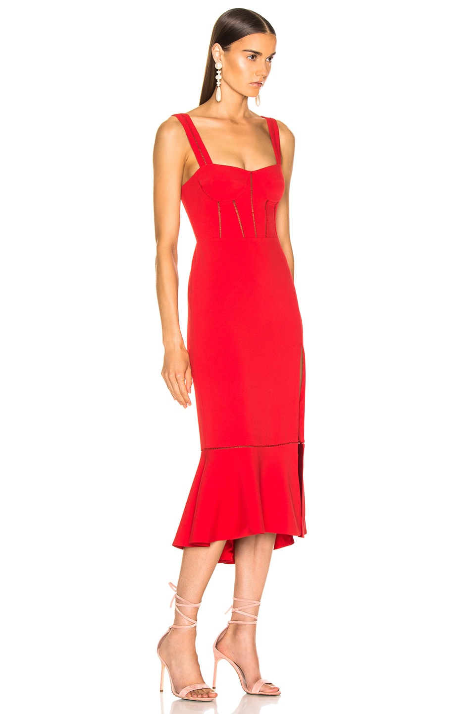 15cf18f5a Image 2 of JONATHAN SIMKHAI for FWRD Bustier Dress in Fire Red
