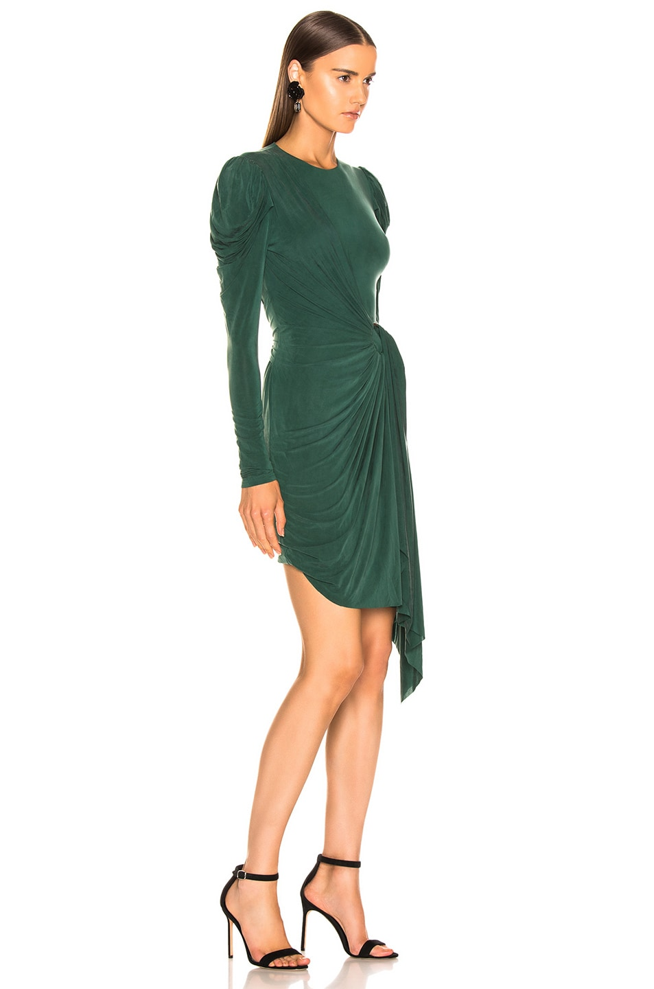 Image 2 of JONATHAN SIMKHAI Sueded Jersey Wrap Dress in Juniper