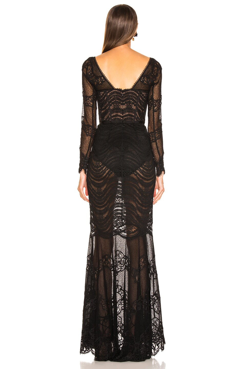 Image 3 of JONATHAN SIMKHAI Lace Bustier Gown in Black